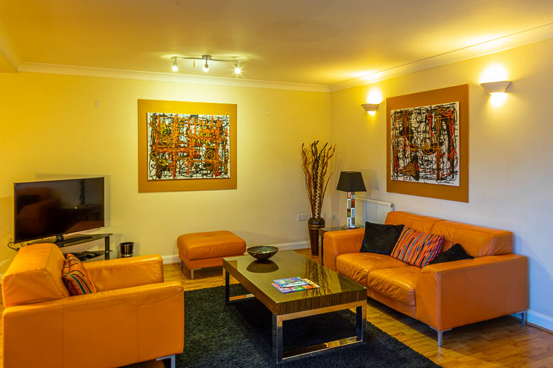Living area at Exeter Serviced Apartments, Centre, Exeter