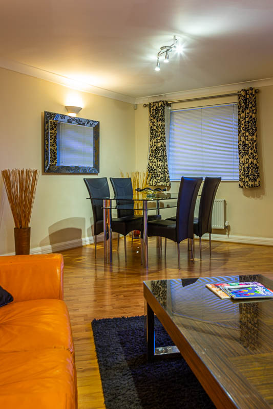 Dining area at Exeter Serviced Apartments, Centre, Exeter