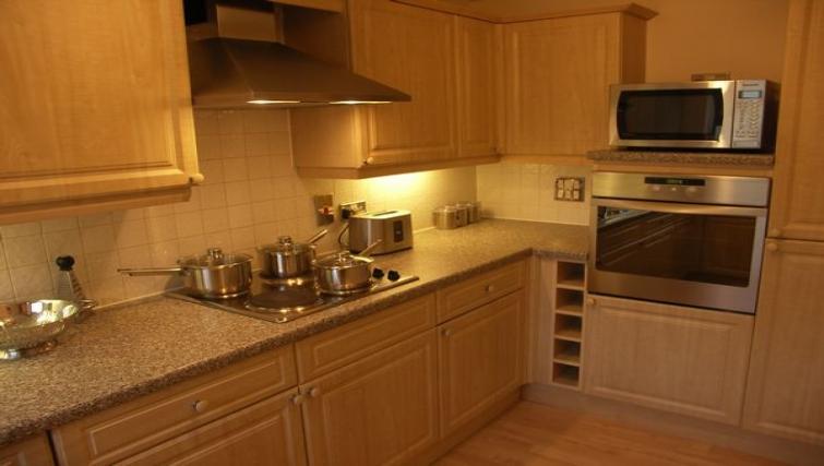 Kitchen in Clarendon Court Apartment