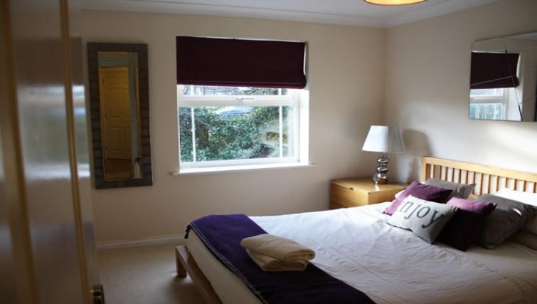 Bright bedroom in Clarendon Court Apartment