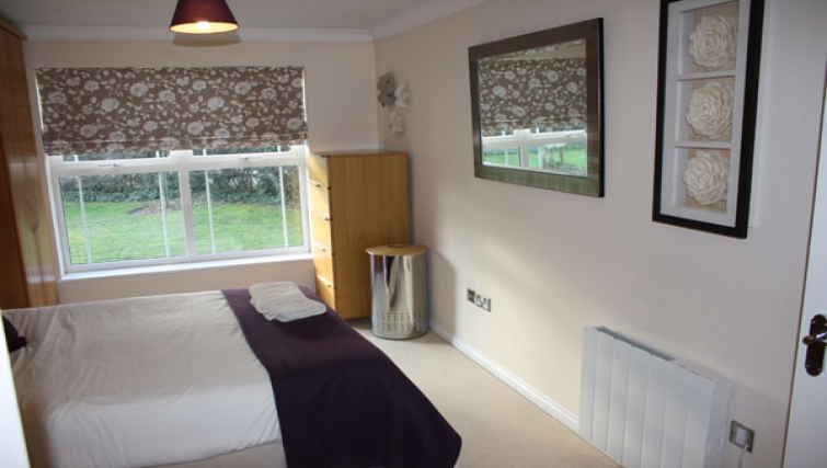 Bedroom in Clarendon Court Apartment