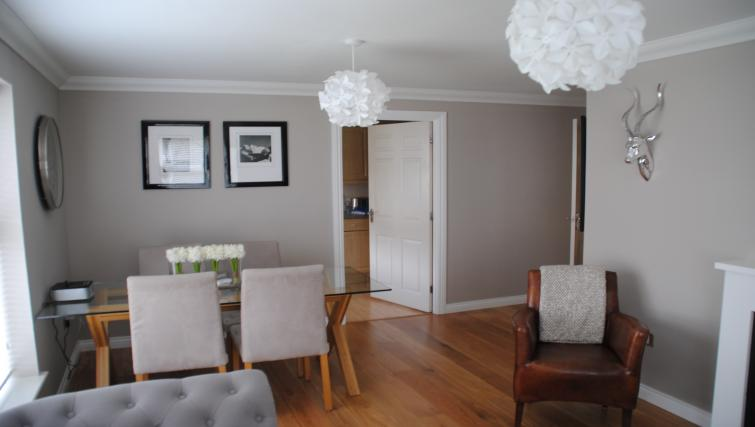Living/dining area at Chesterton Place Apartment