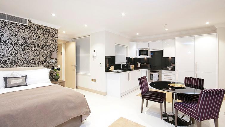 Studio apartment at Claverley Court Apartments