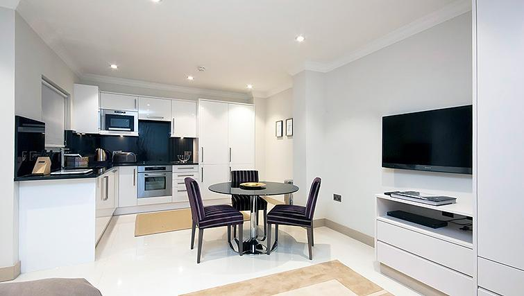 Spacious kitchen in Claverley Court Apartments