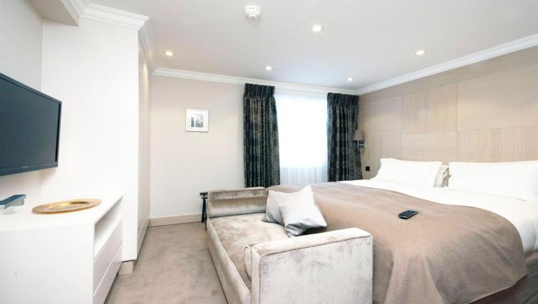 Beautiful bedroom at Claverley Court Apartments