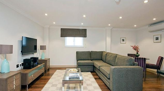 Beautiful living area in Claverley Court Apartments