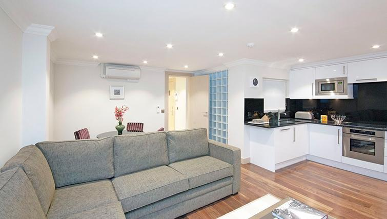 Comfortable living area at Claverley Court Apartments