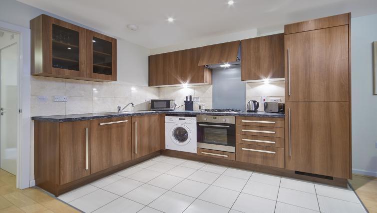 modern kitchen at Heron House