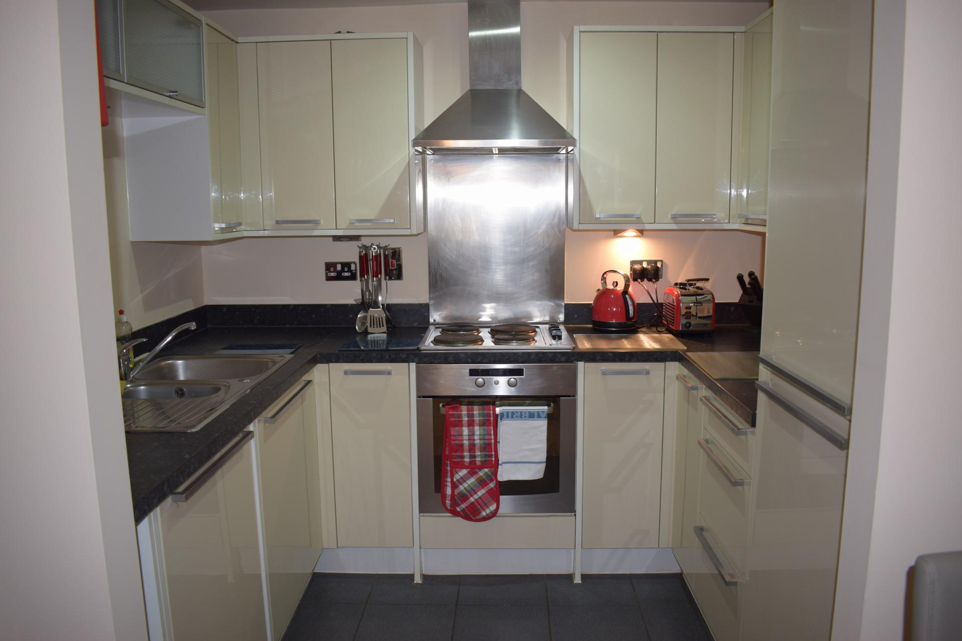 Kitchen at Queensgate Apartments, Centre, Watford