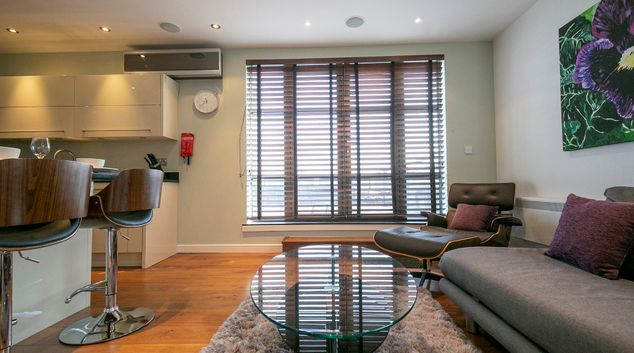 Living room at Wallis Square Apartments, Centre, Farnborough