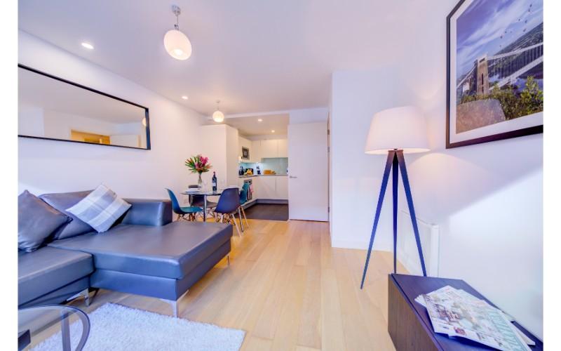 Sofa at Finzels Reach Apartments