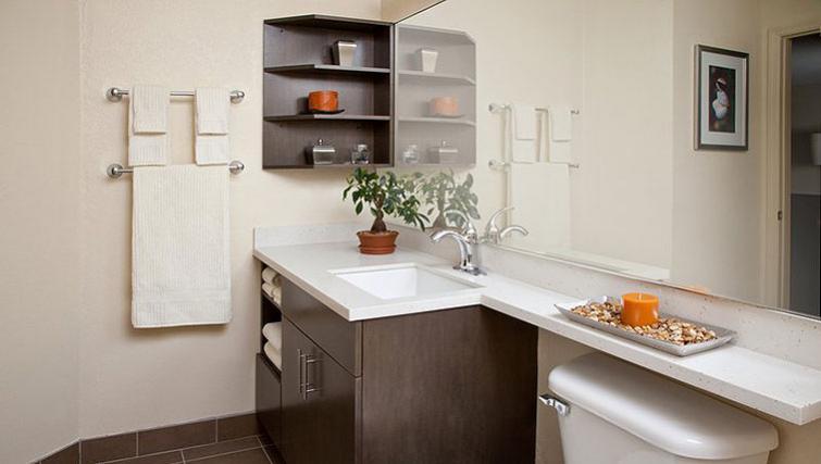 Bathroom in Candlewood Suites Boston Braintree