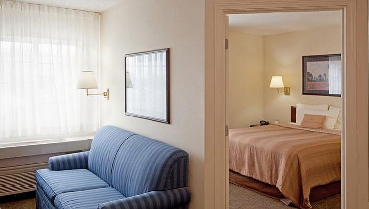 Elegant living area in Candlewood Suites Boston Braintree