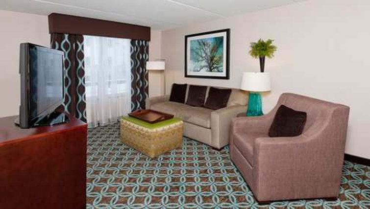Timeless living area in Homewood Suites Boston/Canton