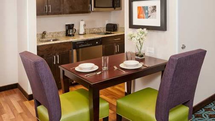 Stylish dining area in Homewood Suites Boston/Canton