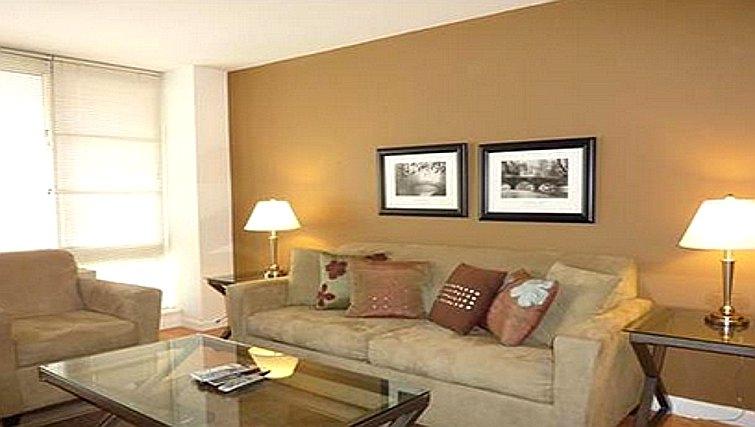 Contemporary living area in Casa 1 Apartments