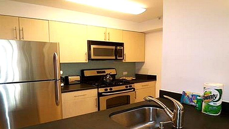 Simplistic kitchen in Casa 1 Apartments