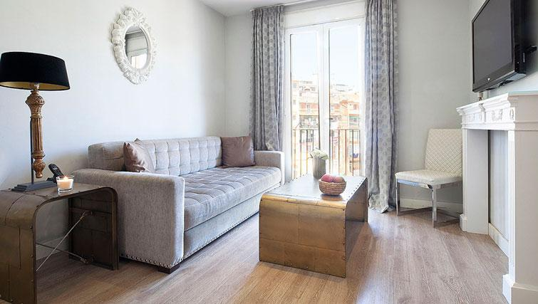 Bright living area in Grandom Suites Barcelona