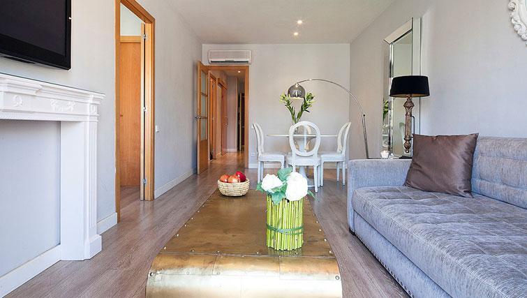 Living room at Grandom Suites Barcelona
