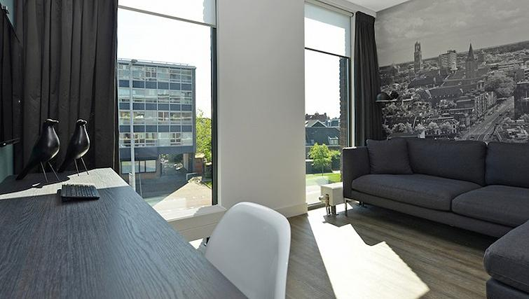 Open plane living area in World Fashion Apartments - Utrecht