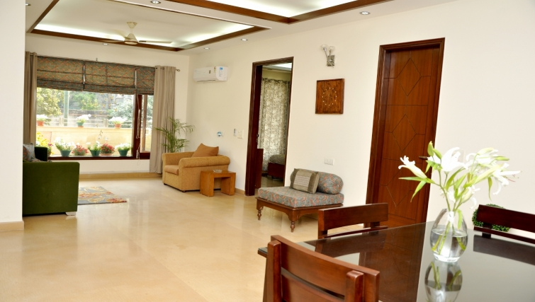 Living area at Perch Serviced Apartments