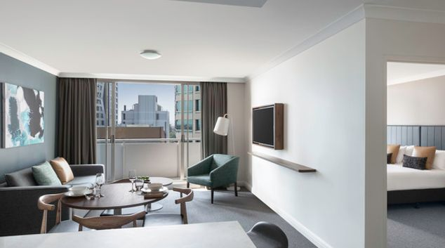 Living area at Mantra Chatswood, North Ryde, Sydney