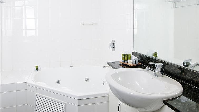 Bright bathroom at Mantra Parramatta