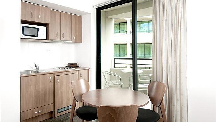 Contemporary kitchen at Mantra Parramatta