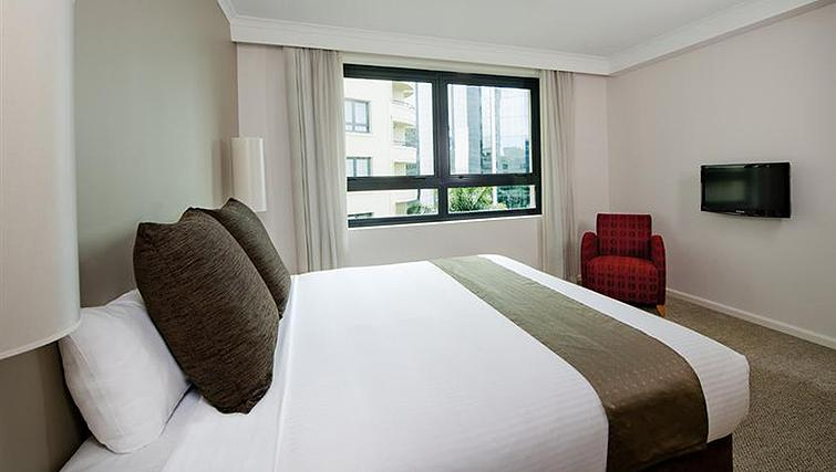 Stylish bedroom at Mantra Parramatta