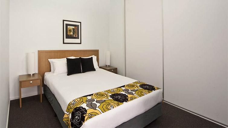 Tasteful bedroom at Mantra 100 Exhibition