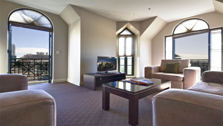 Scenic living area at Mantra on Frome