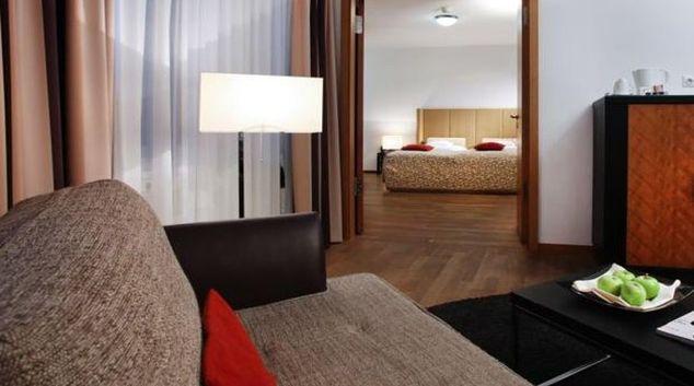 Living area in Lindner Residence Main Plaza Frankfurt