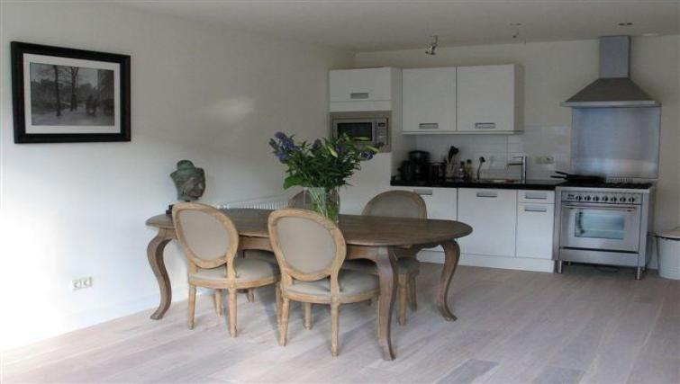 Kitchen/dining area at Executive Apartments, Amsterdam