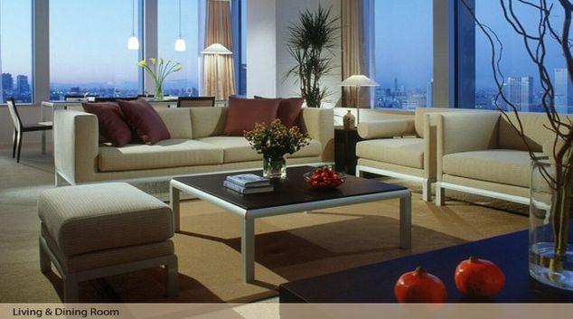 Outstanding living area in Oakwood Residence Roppongi T-Cube Tokyo