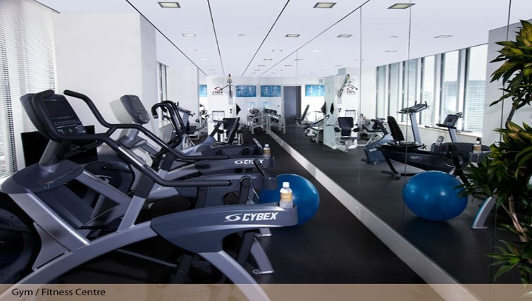 Magnificent gym at Oakwood Residence Roppongi T-Cube Tokyo