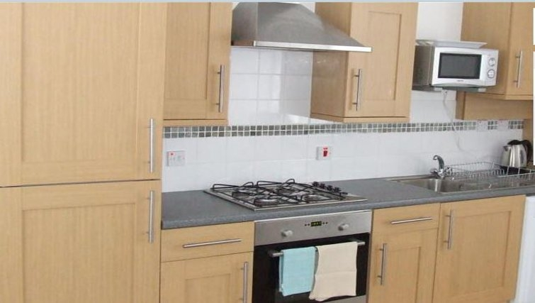 Impressive kitchen in Railway House Serviced Apartments