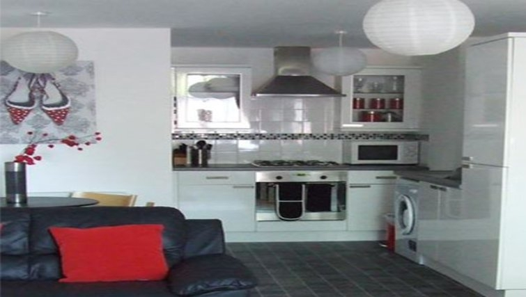 Modern living area in Railway House Serviced Apartments