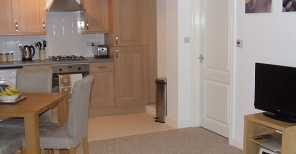 Dining area at Railway House Serviced Apartments, Centre, Darlington