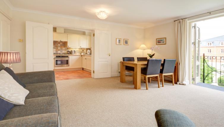 Delightful living area in 6 Chelsea Square Apartments