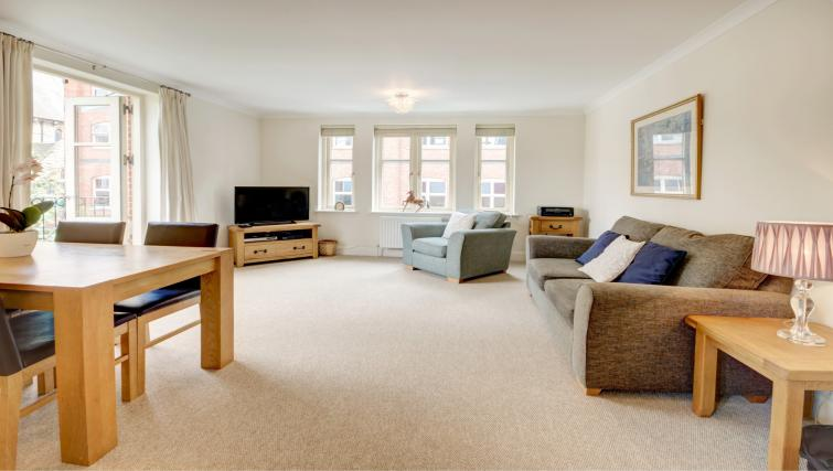 Sensational living area in 6 Chelsea Square Apartments