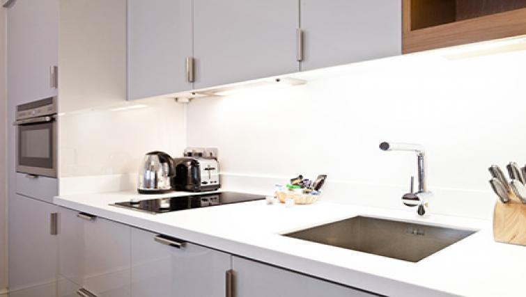 Compact kitchen in Doughty Street