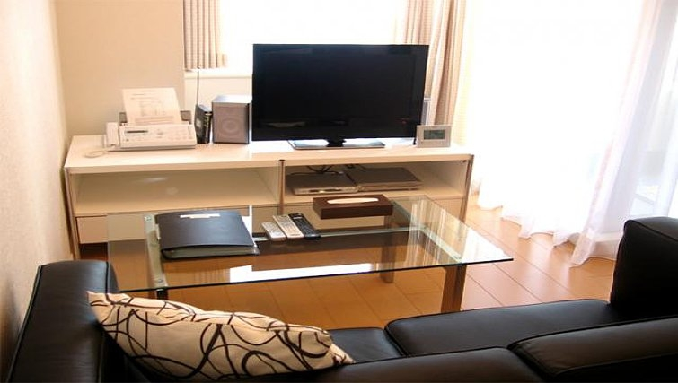 Bright living area at Central Crib Roppongi II Apartments