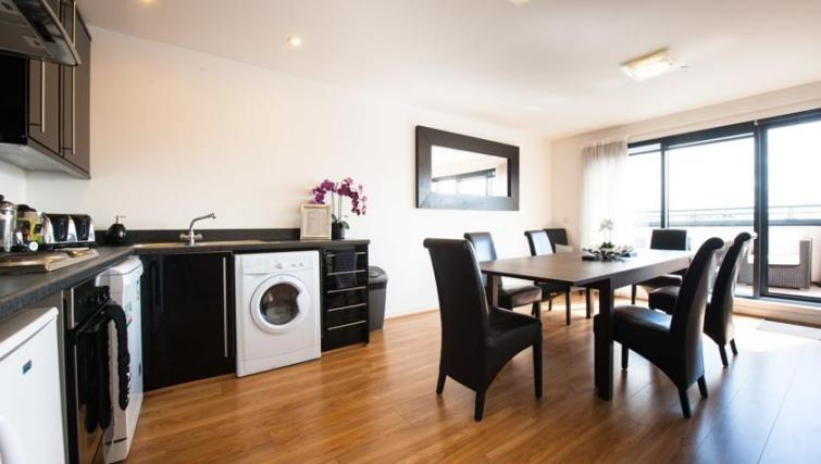 Kitchen in 2 bed at Westport Luxury Serviced Apartments