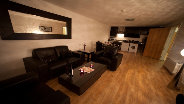 Living area at Westport Luxury Serviced Apartments