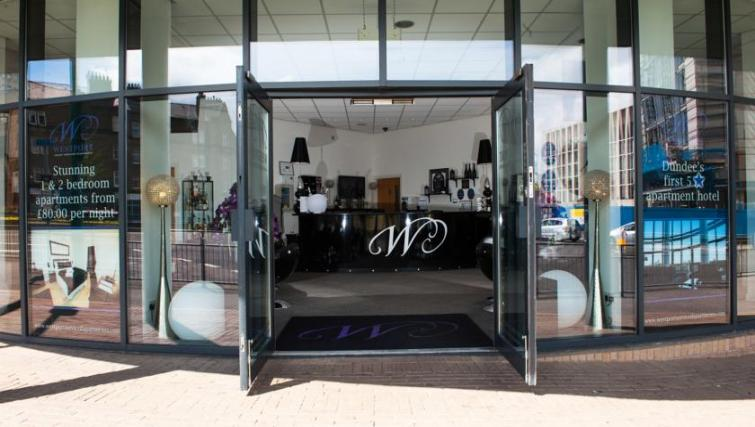 Entrance at Westport Luxury Serviced Apartments