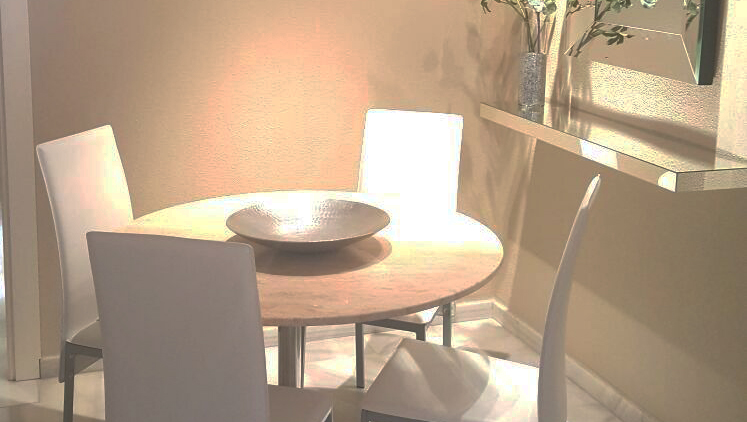 Dining area at Goya Apartments