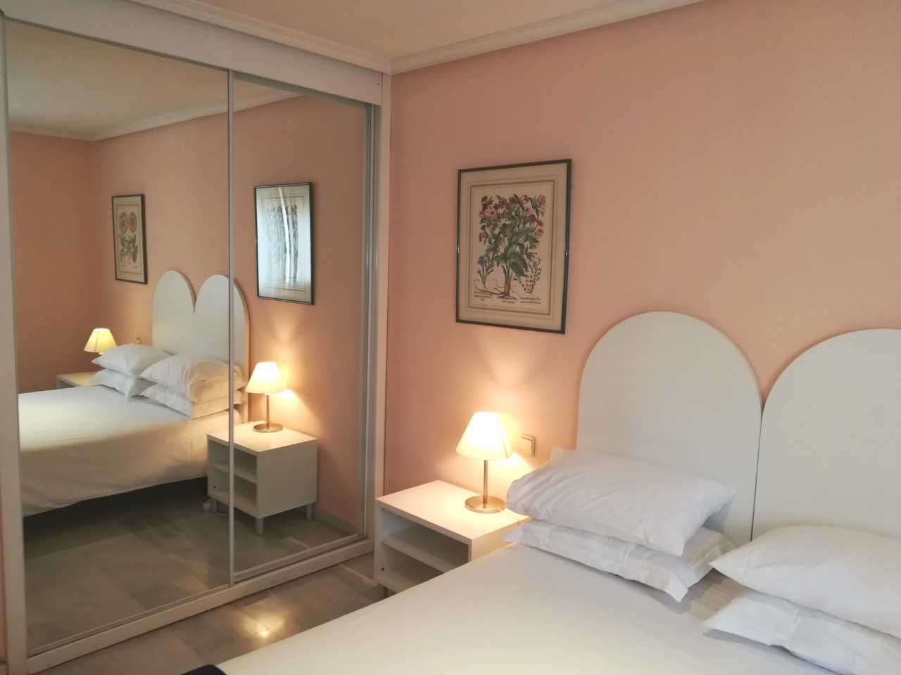 Double bed at Goya Apartments