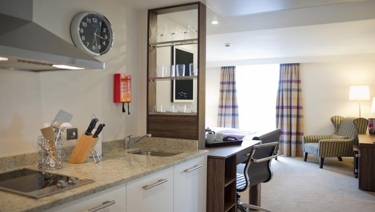 Kitchen at Staybridge Suites London Stratford City
