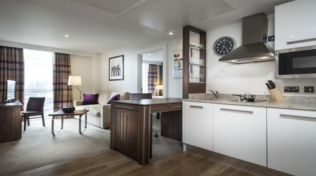 Living area at Staybridge Suites London Stratford City