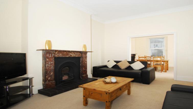 Memorable living area in Belgrave Apartments